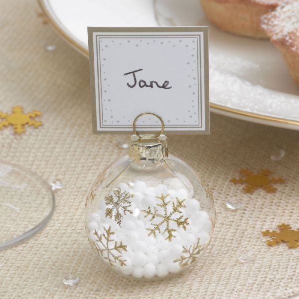 Winter Wonderland - Bauble Place Card Holders (6)